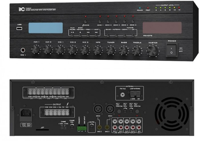itc Mixer Amplifier, FM Tuner ve MP3 Player